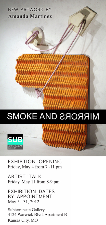 SMOKE AND MIRRORS : A solo exhibition of recent work by resident Amanda Martinez