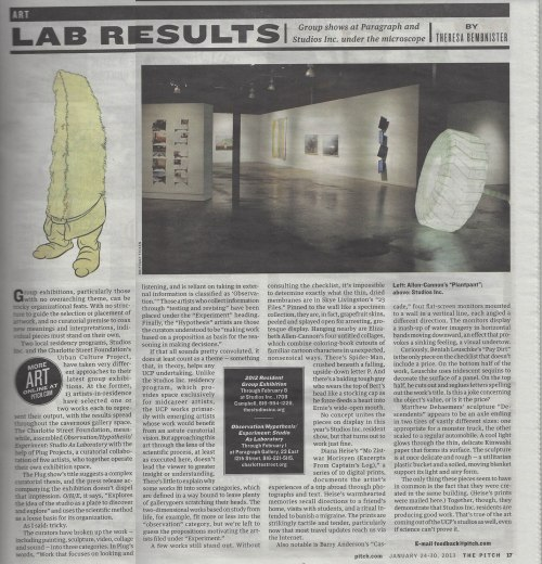 UCP Resident Exhibition review in Pitch 2013